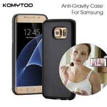 For samsung galaxy S7 Edge S6 Edge Plus case Antigravity Plastic Magical Anti gravity Nano Suction Cover Adsorbed Car Case