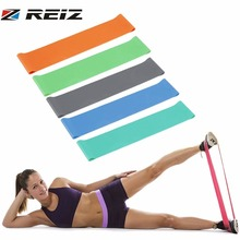 REIZ Yoga Healthy Fitness Resistance Band Elastic Belt Loop Pull Strength Training Body Muscle Tone Indoor Gym Equipment(China)