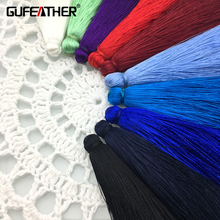 GUFEATHER 10CM Silk Brush earrings accessories/tassel/jewelry accessories/jewelry findings/diy jewelry