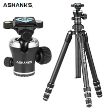 ASHANKS A666C Carbon Camera Tripod 8KG 55.1''/140cm Professional Video Tripod with Dslr VIDEO Tripod Ball Head for Photography(China)