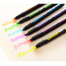 6 pcs/lot lumina color highlighter pen scrawl drawing pen DIY marker pen stationery school supplies papelaria(China)