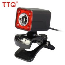 TTQ Webcams LED Night Vision  Free Driver Webcam with Microphone MIC For PC Laptop  Video Recording/Call