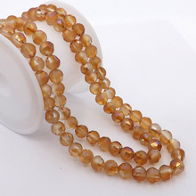 100pcs/Lot 6mm Fantastic Scrub Beads glass Bead section Round Loose Bead For DIY Jewelry Making #QHGZ-48(China)