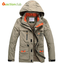 ACTIONCLUB 2017 Sping Autumn Men Jackets Windproof Coat Men Tourism Mountain men's Jackets Men's Fashion Coats Male Plus Size