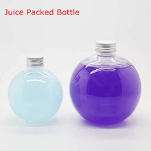 Plastic Transparent Spherical Bottle Juice enzyme tea drink beverage bottles150ml 200ml 300ml 500ml most tide 10PCS(China)