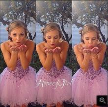Vestidos de Fiesta purple a line Rhinestones prom dress 2017 Sweetheart Neckline Short Cheap petite prom gowns best selling