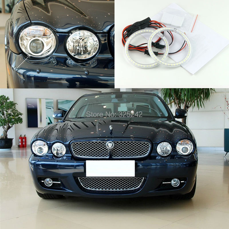 For Jaguar XJ XJ6 XJ8 X350 X358 2003-2009 Excellent led Angel Eyes Ultrabright illumination smd led Angel Eyes Halo Ring kit<br><br>Aliexpress