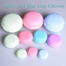 Portable Candy Color 3 size Cute Macarons Jewelry Ring Necklace Carrying Case Earphone Organizer Storage Box Case Carrying Pouch(China)