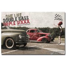 NICOLESHENTING Hot Rod Muscle Car Art Silk Fabric Poster Print Classic Car Pictures For Living Room Decor 025