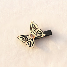 Buena Cute Butterfly Hairpins Hair Clip Cellulose Acetate Mini Butterfly Hair Clips for Girl SD001 Small Clips for Women(China)