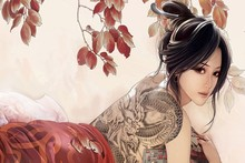 2017 Time-limited Wall Art Poster Beautiful Asian Girl Sexy Tattoo Canvas Art Painting Fantasy Modular Pictures Hot Cuadros