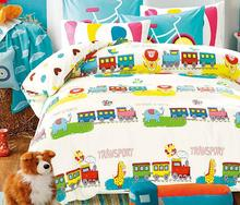 Train bedding sets/kids bed/bed cover set/sheets for bed/boys Bedding Sets queen/bedspreads/twin bedding