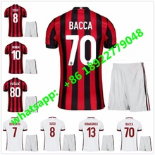 2017 2018 AC Milan soccer jersey home red kits 17 18 BACCA KAKA away white BONAVENTURA AC Milan football shirts(China)