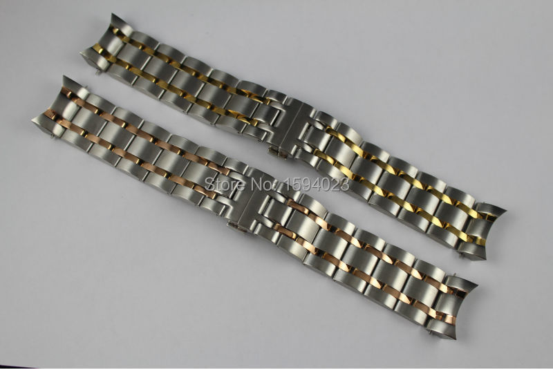 24mm T035614 T035627 New Watch Parts Male Solid Stainless steel Gold plating bracelet strap Rose gold plated WatchBands For T035<br>