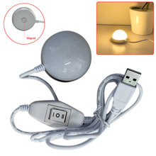 New Creative Portable Mini 5W USB LED Ceiling Lamp Desk Reading Emergency Night Light With Magnetic Base warm white/white