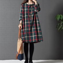 Buy Maternity Clothing Spring Autumn Cotton Linen Maternity Dress Maternity Fashion Plaid One-piece Princess Dress Pregnant Women for $7.39 in AliExpress store