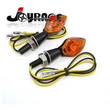 E-marked Mini Metal Amber Custom LED Motorcycle Turn Signals Indicator Lights
