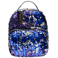 Spring Mini PU+Sequins Backpack School Bag for Teenage Girls Princess Bling Backpack Bag All-match Small Travel Sequins Backpack
