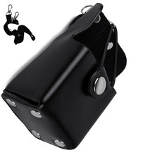 Super Quality Leather case holder for motorola gp328plus, gp338plus ,gp344,gp388 etc walkie talkie portable radio case(China)