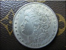 1891-CC morgan dollar silver coin(China)