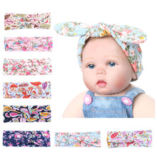 1PC 2016 Lovely Stylish Baby Kids Girls Children Rabbit Ears Hair Band Turban Knot Headband Baby Accessories