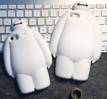 New arrival 3d cute cartoon fashion Unique Custom case lovely baymax soft silicone cover for iPhone 5 5s 6 6s 4.7 5.5 inch plus
