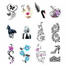 YZWLE 1 Sheet Optional Water Transfer Sticker Nail Art Decals Cat Flower Pattern Nails Wraps Temporary Tattoos Watermark Tools(China)