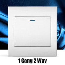 1 Gang 2 Way white Wall switch Random Click Push Button Wall Light Switch With Panel Switch panel