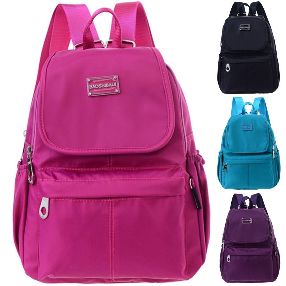 New 2017 Waterproof Nylon Backpacks Bags Lady Womens Backpacks Female Casual Travel Bags School bag Mochila feminina For Women<br><br>Aliexpress
