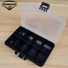 8 Compartment Plastic Fishing Tackle Box For Fishing Lures 10.5X7.8X2.5cm Fishing Accessaries Hook Spoon Transparent