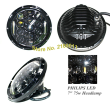 75W Headlamp 7 Inch Wrangler Led Headlight DRL Jk Tj Fj Cruiser Trucks Road Lights - DP LED off road&Motor Store store