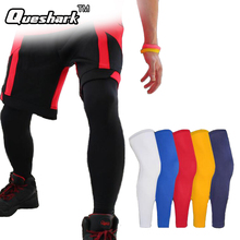1Pcs Long Running Basketball Leg Sleeve Knee Pads Men Fitness Crossfit Sports Knee Support Protector Anti-UV Cycling Leg Warmers(China)
