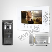 7inch Wired Video Intercom Quality Night-Vision with Color Images with Electric Lock and Keys Included