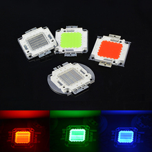 1Pcs Full 50W LED SMD Integrated High Power lamp Chip For DIY Floodlight Grow light Warm white/Red/Green/Blue/Yellow/ RGB