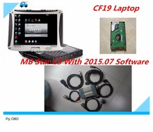 Top-Rated For Mercedes Tester MB Star C3 full set with 2015.07 Software HDD installed well in CF19 Laptop free shipping(China)