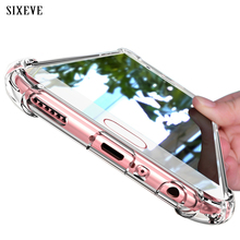 SIXEVE Super Shockproof Clear Silicone Case For Samsung galaxy S8 Plus 360 cell Phone Back Cover For Samsung S8 Samsung S8Plus(China)