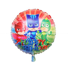 30pcs/lot PJ Mask Balloon Birthday Party Supply superman cartoon Foil Latex Balloons Globos Kids Inflatable Toys(China)