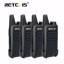 4pcs Retevis RT22 Mini Walkie Talkie Radio 2W 16CH 1000mAh UHF VOX Amateur Radio Hf Transceiver Handy 2 Way Radio Comunicador(China)