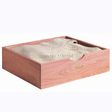1PC high quality Cedar wood shirt sweater wardrobe storage box 36.7X31.6x9.6cm Drawer Organizers