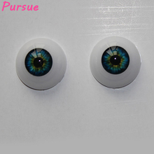 Pursue 10 Pairs Pack Blue Eyeballs for Reborn Bebe Doll 20mm/22mm Half Round Acrylic Doll Eyes for Reborn Babies Doll (Blue)