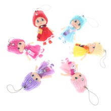 6pcs/set fashion girls mini dolls super cute skirt dressed girls toys birthday gifts baby girl's first doll 8cm