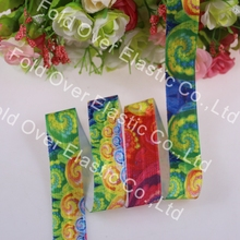 20mm heat transfer print  foe elastic fold over elastic 100 yards/roll ,welcome to custom your own design