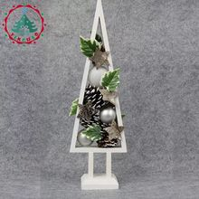 Tree wooden Christmas ornaments artificial white snowflake Christmas rattan ornaments gifts simulation(China)