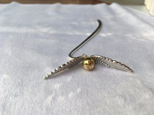 1 Pcs Gold Best Gift for Reader Snitch Harry Bookmark Wing Charm Bookmark - Harry Potter Bookmark Gift free shipping