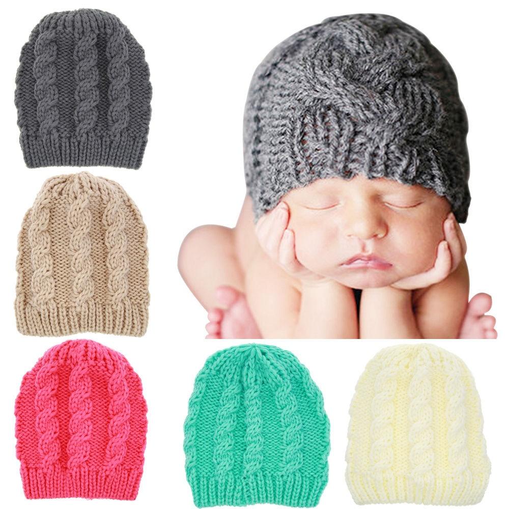 Autumn Winter Toddler Knitted Bonnet  Adorable Beanie Hat Baby Beanies Infant Baby boys girls cap Photo Props 1pc H831Îäåæäà è àêñåññóàðû<br><br><br>Aliexpress