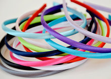 Girls Headband 7mm Satin Covered Headband Satin Lined Headband Satin Headbands Girls Hair Accessories 20pcs