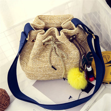 2017 summer bags Women Grass Handbag Beach bag straw totes bag bucket Durable Ladies Tote Ocean Women Bags