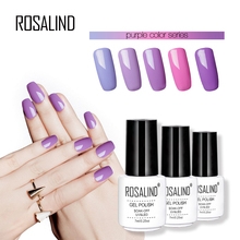 ROSALIND 7ML Purple Color series Gel Nail Polish Nail Art Beauty High quality Soak-Off Uv LED Primer Nail Gel Polish(China)