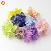 10PCS 15 Colors Hydrangea Silk Artificial Flowers Head For Wedding Car Decoration DIY Garland Decorative Floristry Fake Flowers