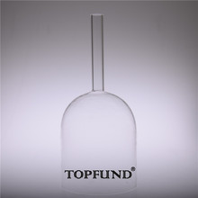 Buy TOPFUND Hollow Handle Clear D# Sexual  Chakra Quartz Crystal Singing Bowl 7""